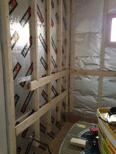 Sauna Wand Aufbau in Finnland mit SPU Dämmplatten