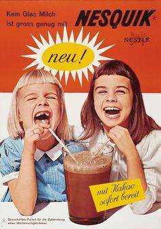 Vintage Advertisements, Vintage Ads, Vintage Food Posters, Nesquick, Chocolate Gum, Anna Cattish, Online Contest, Retro Images, Funky Art