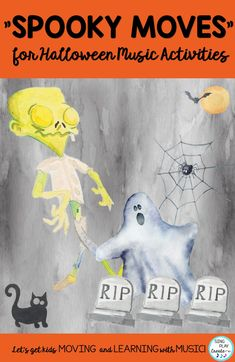 "Get ready for some spooky moves when you show your class this Halloween music video. ""Spooky Moves"" for Halloween music activities can be the core activity in your Halloween music lessons. #singplaycreate #elementarymusichalloweenlessons #musicedhalloween   #halloweenmusicactivities #musicedhalloweensongs #musicedhalloween #halloweenmusiclessons #halloweensongsandactivities #halloweenmusic #halloweenmusicandmovement"