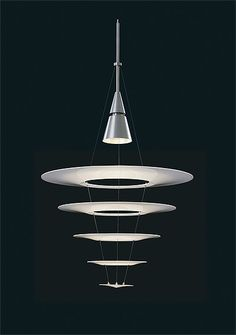 Lauise Paulsen Enigma, a really cool lamp. It´s best used in a large room, viewed from a far.