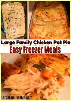 This is a delicious chicken pot pie family meal! Very easy to make and freeze for future meals. Chicken pot pie will become one of your families favorite meals! Chicken Pot Pit Recipe, Homemade Chicken Pot Pie, Yum Yum Chicken, Chicken Recipes, Easy Freezer Meals, Make Ahead Meals, Freezer Cooking, Real Cooking, Cooking Tips