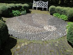 I want to do some type of artistic decorative stonework in the back yard.