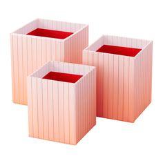 IKEA - HEJSAN, Penneholdere, 3 stk., Hjælper med at holde orden i kuglepenne, linealer og andre småting.