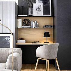 Inspiração para home office  I via @inandoutdecor