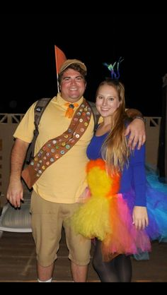 Halloween 2013, Kevin and Russell from UP! Homemade costume! #diy #halloween #homemade #couplecostume Halloween 2013, Couple Halloween, Diy Halloween Costumes, Halloween Ideas, Costume Ideas, Russel Up, Homemade Costumes, Holiday Time, 2nd Birthday