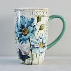"Imagine a blissful stroll down the floral paths of the Tuileries Garden in Paris while enjoying tea from this elegant, floral mug. Ideal for everyday use, this stoneware piece will quickly become a teatime favorite.DetailsMaterialEarthenwareCapacity14 ozDimensions3.25"" W x 5.25"" HCare InstructionsDishwasher safe. Microwave safe.Country of OriginChina"