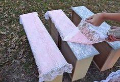 идеи декупаж на мебели с пердета и спрей боя