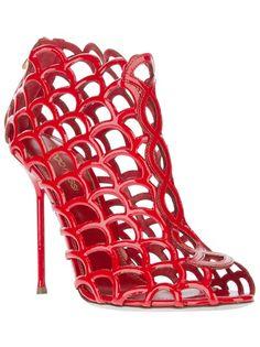 SERGIO ROSSI Ankle Boot Vermelha
