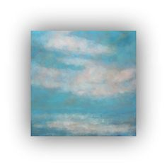 Original Abstract Landscape Sky and Clouds Oil by traceynicholas