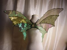 OOAK Unique Green Iridescent Fairy Wings Woodland Fairy Costume on Etsy, $25.73