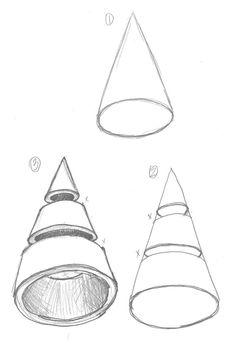 """Sliced and Diced Form Drawing-Students will draw the 6 Basic forms and learn how to accurately """"slice"""" through the forms and render with full shading Elements And Principles, Elements Of Art, Elements Of Design Form, Shape Art, Shape And Form, Drawing Lessons, Art Lessons, Art Room Rules, Form Drawing"""