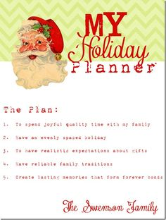 Holiday planning binder (with free templates).  This would really help with organization during a busy season.
