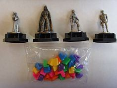 Trivial Pursuit Star Wars Classic Trilogy  Pewter Game Tokens Darth Vader Hans Solo Luke Children Board Games Leia