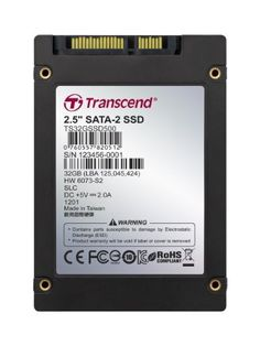 TRANSCEND INFORMATION 32GB SSD, 2.5IN, SATA, SLC by Transcend. $314.73. Transcend 32 GB Internal Solid State Drive TS32GSSD500 Solid State Drives