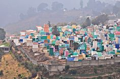 """Central America entry: """"A Hillside Cemetery of Vibrant Colors"""" by Sue Manuel #travel #Guatemala"""
