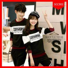 Sweater Couple Converse Star Terlaris