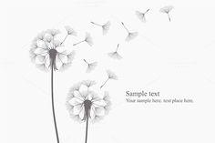 vector dandelion by volyk on @creativemarket