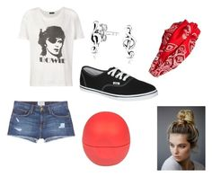 """""""for true fans!"""" by mayaandrews88 on Polyvore featuring R13, Current/Elliott, Vans, Cara, River Island, Bling Jewelry, Free People, women's clothing, women and female"""