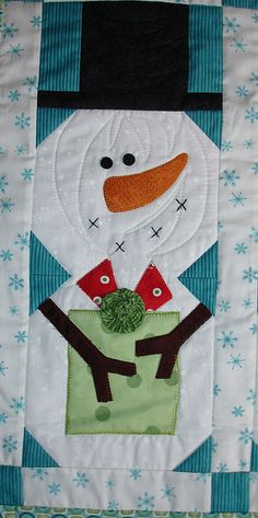 All sizes | Snowman Gift Swap Quilt | Flickr - Photo Sharing!