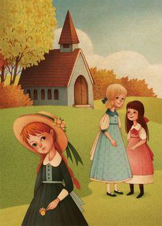 Gaia Bordicchia Illustrations: Anne of Green Gables Gaia, Tomorrow Is A New Day, Beloved Book, Anne Shirley, Children's Book Illustration, Book Illustrations, Prince Edward Island, Childrens Books, Book Art