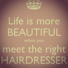 #Life is more #beautiful when you meet the right #HairDresser. #TheBeautyDistrict