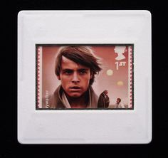The Royal Mail released a set of special stamps featuring some of the characters, favourite droids, aliens and creatures of the Star Wars films. This 1st class stamp design shows Luke Skywalker. Luke Skywalker is the main protagonist of the original Star Wars trilogy. His parents are Anakin Skywalker and Padmé Amidala. Mark Hamill portrayed the adult Luke.  This unique and handmade brooch is an eye-catching piece, ideal to wear at any Comic Con. Star Wars Luke Skywalker, Anakin Skywalker, Star Wars Film, Mark Hamill, Brooches Handmade, Royal Mail, Design Show, Aliens, Badges