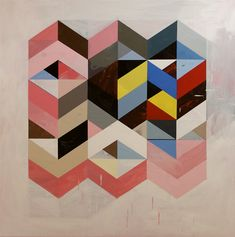 I love this so much! Jeff Depner Reconfigured Grid Painting No. 1 2008