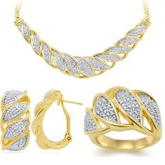 Shop for Divina Fashion 1/4ct TDW 3-piece Diamond Jewelry Set. Get free delivery at Overstock.com - Your Online Jewelry Destination! Get 5% in rewards with Club O!