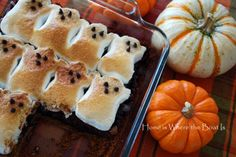 Ghost brownie s'mores and orange hot chocolate recipe