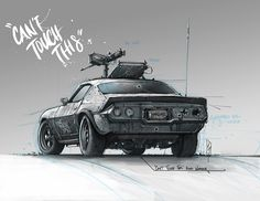 Can't Touch This Camaro, Shane Molina on ArtStation at https://www.artstation.com/artwork/can-t-touch-this-camaro
