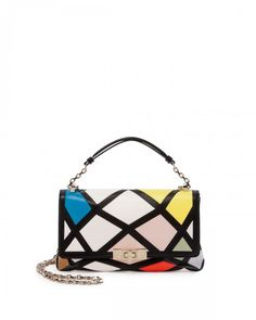 Roger Vivier Prismick Mini Bauhaus Shoulder Bag as seen on January Jones 35da74bbe4c26