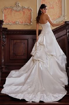 wedding gowns with long train