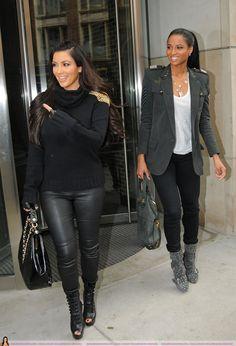 leather pants kim kardashian