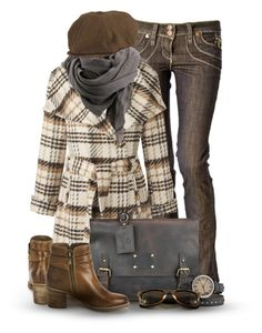 """""""Plaid for Fall"""" by cynthia335 ❤ liked on Polyvore featuring Coldwater Creek, Bruuns Bazaar, Polo Ralph Lauren, Sperry Top-Sider and TOKYObay"""