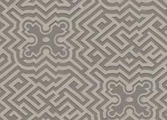 Palace Maze (98/14056) - Cole & Son Wallpapers - A wonderfully intricate geometric design inspired the famous Hampton Court Palace Maze.  Shown here in charcoal grey and metallic silver. Other colourways are available. Please request a sample for a true colour match. Paste the wall product.