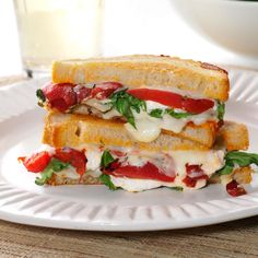 """Grilled Goat Cheese & Arugula Sandwiches Recipe -To create a more """"grown-up"""" grilled cheese sandwich, I threw in tangy goat cheese and peppery arugula. I enjoy a similar combination on pizza, and it worked here, too! —Jess Apfe, Berkeley, California"""