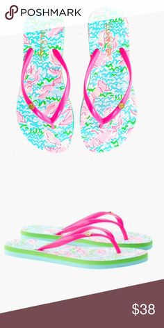NWT Lilly Pulitzer Lobstah Roll Flip Flops Brand new with tags! Lobstah Roll pattern, size is 9/10. Still wrapped in packaging. Lilly Pulitzer Shoes Sandals