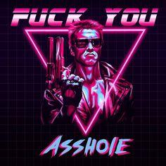 Spread Humour Over The World Terminator 1984, Terminator Movies, New Retro Wave, Retro Waves, Arte Nerd, Movie Poster Art, Cultura Pop, Cool Posters, Retro Art