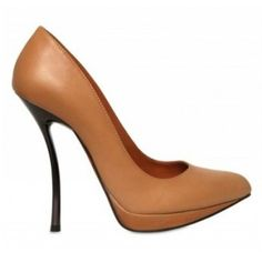 Lanvin Mat Leather Pointed-Toe Pump204.00