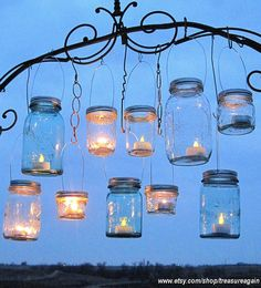 Hanging Mason Jars Lids 10 DIY Hanging Lantern Lids  Easy Twist on Lids I designed for hanging Mason Jars