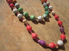 Twoin one paper beaded necklace from Uganda by MyScarfBoutique