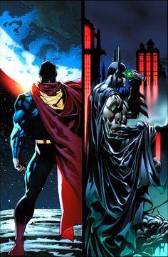 Superman and Batman by Tomás Giorello