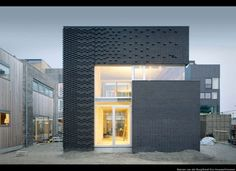 Facade Tetris: The Luminous And Textured Potential of Brick - Architizer Houses Architecture, Architecture Design, Contemporary Architecture, Residential Architecture, Brick In The Wall, Brick Building, Building Design, Architectural Materials, Brick Texture