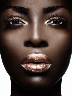 Bronze lips & eyes - stunning