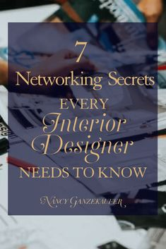 7 networking secrets every interior designer needs to know because if you can find the right strategy, you can leverage your time and opportunities to work in your favor more than you think. Interior Design For Beginners, Learn Interior Design, Interior Design Courses Online, Design Home App, Interior Design Website, Design Blog, Interior Designing, Modern Interior, Design Design