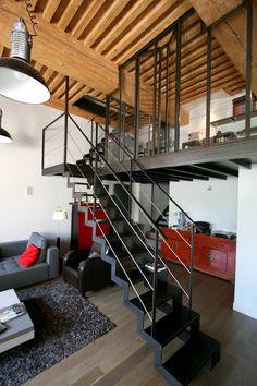 Rénovation appartement Croix Rousse (Lyon), mezzanine acier