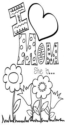 Totally Terrific in Texas: Mother's Day Mothers Day Crafts For Kids, Fathers Day Crafts, Mothers Day Cards, Happy Mothers Day, Mothers Day Coloring Sheets, Coloring Pages For Kids, Kids Coloring, Online Coloring, Fairy Coloring