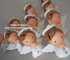 Angelitos en porcelana fría / Cold porcelain / Masa flexible
