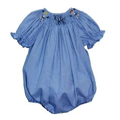 University of Kentucky Smocked Girls Bubble from Smocked Auctions
