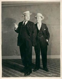 Two Gentlemen. . . Wow, a *very* young Oliver Hardy and Stan Laurel. Hardy's still thin!